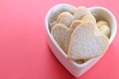 сформированное сердце печений Стоковые Фото