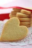 сформированное сердце печений Стоковое Фото