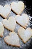 сформированное сердце печений Стоковая Фотография RF