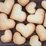сформированное сердце печений Стоковое Изображение