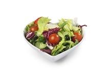 Сформированное сердце салатницы - изображение запаса Стоковые Фото