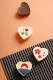 сформированное сердце шоколада стоковая фотография rf