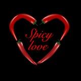 сформированные перцы сердца chili Стоковая Фотография RF