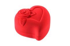 сформированные ювелирные изделия сердца коробки закрытые Стоковые Изображения RF