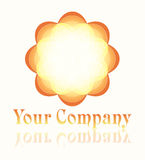 сформированный логос цветка Стоковое Изображение