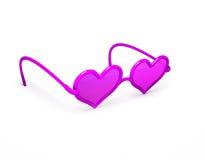 сформированный пинк сердца стекел иллюстрация вектора