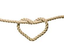 сформированный узел сердца Стоковая Фотография