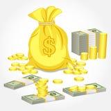 сформируйте деньги иллюстрация штока