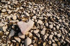 сформируйте камень сердца Схематическая конструкция Стоковое Изображение RF