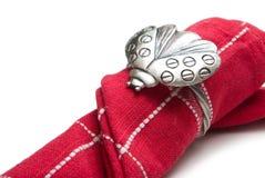 сформируйте кольцо салфетки ladybug Стоковые Фото