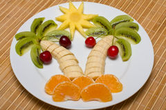 сформируйте ладонь плодоовощ Стоковое фото RF