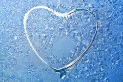 сформируйте окно снежинок Стоковая Фотография