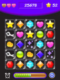 Сформируйте пользовательский интерфейс игры дизайна для видеоигр Стоковые Фотографии RF
