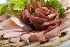 сформируйте розу мяса отрезанную тонко стоковые фотографии rf