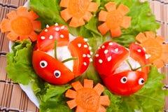 сформируйте томат салата ladybird Стоковые Фото