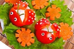 сформируйте томат салата ladybird Стоковая Фотография RF