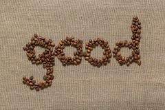 Сформулируйте «good» кофейных зерен Стоковое Изображение