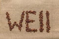 Сформулируйте «well» кофейных зерен Стоковая Фотография