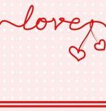 Сформулируйте влюбленность от диапазонов с шить и сердцем бесплатная иллюстрация