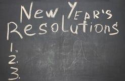 Сформулируйте разрешение ` s Нового Года написанное на классн классном Стоковое Изображение