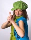 сфотографированный девушки Стоковые Фотографии RF