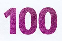 Сфотографированный номер в 100 евро банкноты Стоковая Фотография RF