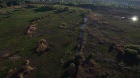 Сфотографируйте от лета Quadrooptera реки стоковая фотография rf