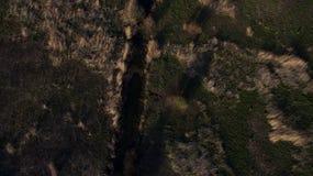 Сфотографируйте от лета Quadrooptera реки стоковое фото