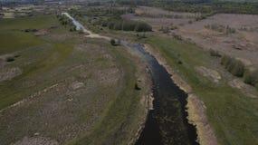Сфотографируйте от лета Quadrooptera реки стоковое изображение