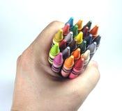 схватывать crayons Стоковое Изображение