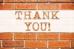 Схематическая воодушевленность титра текста объявления показывая спасибо Концепция дела для давать признательность оценивает writ стоковые фото
