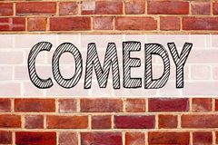 Схематическая воодушевленность титра текста объявления показывая комедию Концепция дела для стоит вверх микрофон комедии написанн Стоковое Изображение RF