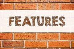 Схематическая воодушевленность титра текста объявления показывая характеристики Концепция дела для рекламы рекламы написанной на  стоковая фотография rf