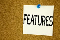 Схематическая воодушевленность титра текста сочинительства руки показывая характеристики Концепция дела для рекламы рекламы напис стоковое изображение