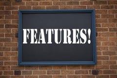 Схематическая воодушевленность титра текста сочинительства руки показывая характеристики объявления Концепция дела для wr рекламы стоковые фото
