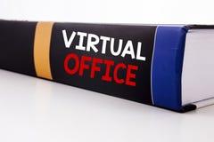 Схематическая воодушевленность титра текста сочинительства руки показывая офис Концепция дела для онлайн пути работы написанного  Стоковые Изображения
