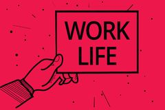 Схематическая жизнь работы показа сочинительства руки Текст фото дела ежедневная задача к деньгам ern вытерпеть потребности one ч бесплатная иллюстрация