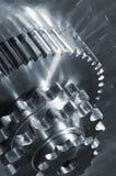 схематическая идея шестерен промышленная Стоковое фото RF