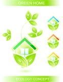 схематическая икона экологичности Стоковое Изображение