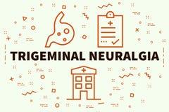 Схематическая иллюстрация дела с neura trigeminal слов иллюстрация штока