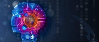Схематическая иллюстрация технологии искусственного интеллекта бесплатная иллюстрация