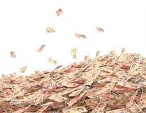 Схематическая иллюстрация фунта в наличных деньгах на белом backgr иллюстрация штока