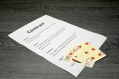 Схематическая иллюстрация освобождать контракт стоковые фото