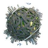 схематическая миниатюра глобуса Стоковая Фотография