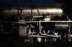 Схематическая низкая ключевая съемка исторического парового двигателя Стоковая Фотография RF