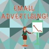 Схематическая реклама электронной почты показа сочинительства руки Поступок фото дела showcasing отправки коммерчески сообщения в иллюстрация вектора
