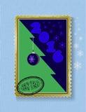 Схематическая рождественская елка на рождестве и Новом Годе Стоковое фото RF