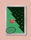 Схематическая рождественская елка на рождестве и Новом Годе Стоковое Фото