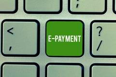 Схематическая рука писать показывающ оплату e Путь фото дела showcasing оплачивать для обслуживаний товаров электронно стоковые фото