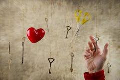 Схематическая рука фото протягивая для одного из много старый год сбора винограда Стоковые Изображения
